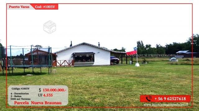 Parcela 5000 y casa 140 m2 Nueva Braunau Pto Varas